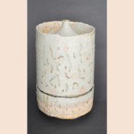 「灰釉壺(花器)」
