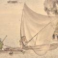 「漁夫山水図」