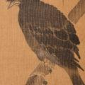 「柳に叭叭鳥」