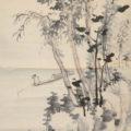 「秋景山水図」