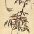 「桃に綬帯鳥図」