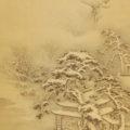 「雪景山水図」
