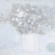 「花と青柿」