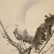 「月に墨梅図」