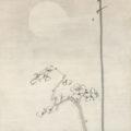 「月下梅花図」