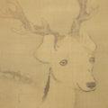 「瀑下遊鹿」