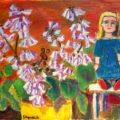 「人形と桐の花」