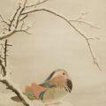 「雪中紅梅鴛鴦図」