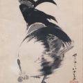 「麦束に鶏図」