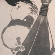 「箒に鶏図」