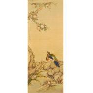「柳に白頭翁・桃に金鳩図」
