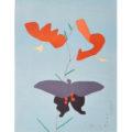 「鬼百合に揚羽蝶」
