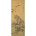 「樹上猿猴図」