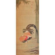 「竹に雄鶏図」